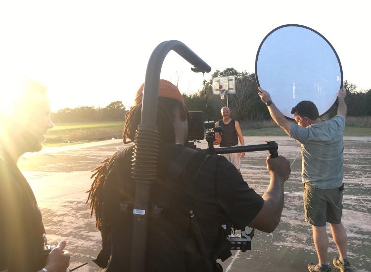 Videographer Prepping Camera Gear 105