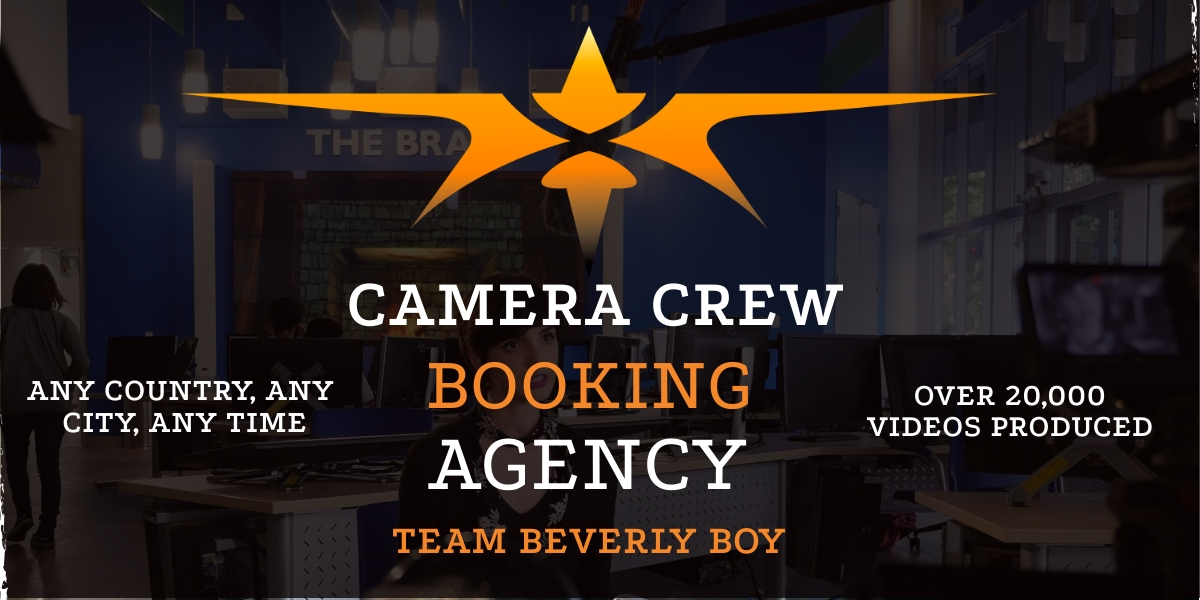 Camera crew booking agency