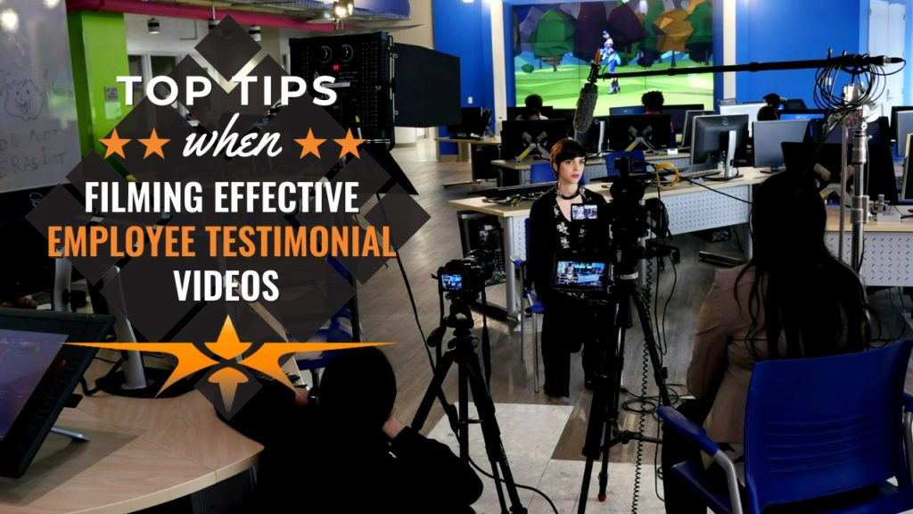 Top Tips when Filming Employees Testimonial Videos
