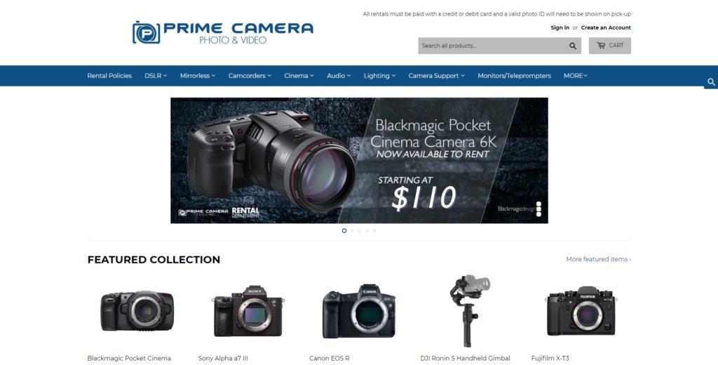 Houston Camera Rentals - Prime Camera