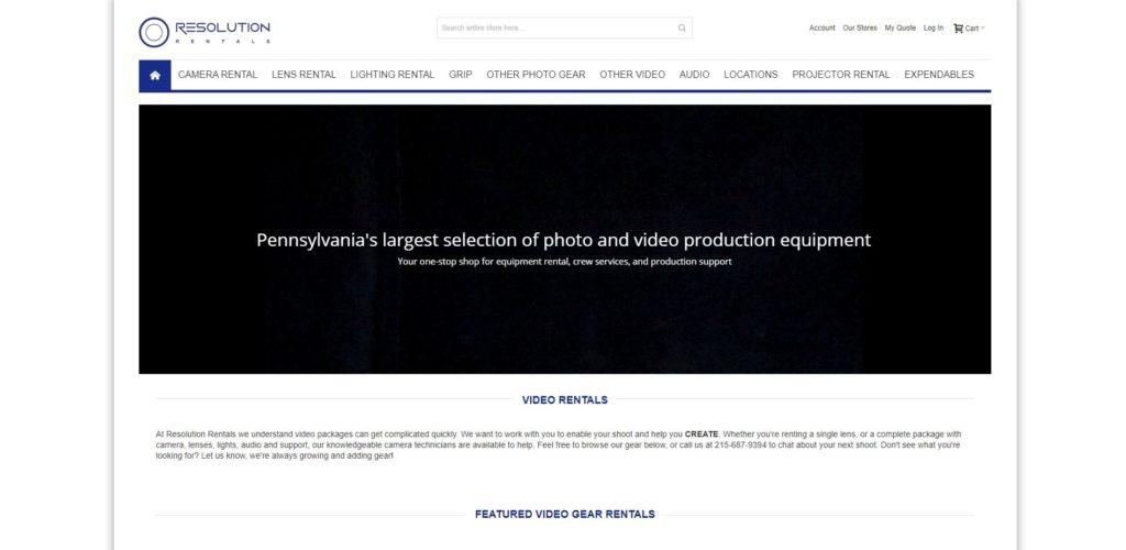 Philadelphia Camera Rentals - Resolution Rentals