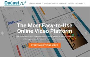 dacast - stream live video