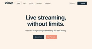 Vimeo Live streaming without limits