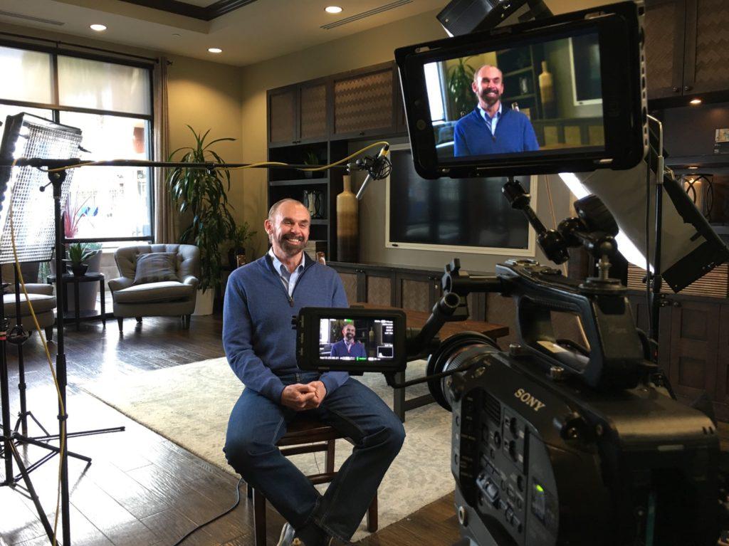 Filming a Testimonial on a FS7