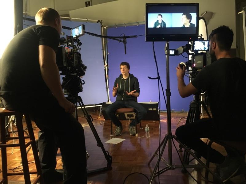 Our BBP Camera Crew filming Jesse Eisenberg