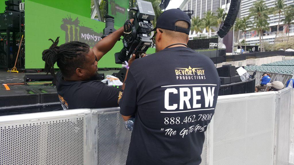 Our Camera Crew preping to film a Live Event