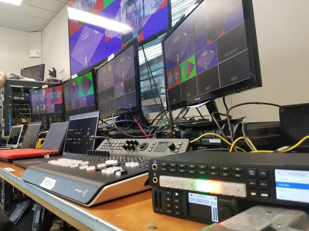 Setting up live streaming gear in Vienna