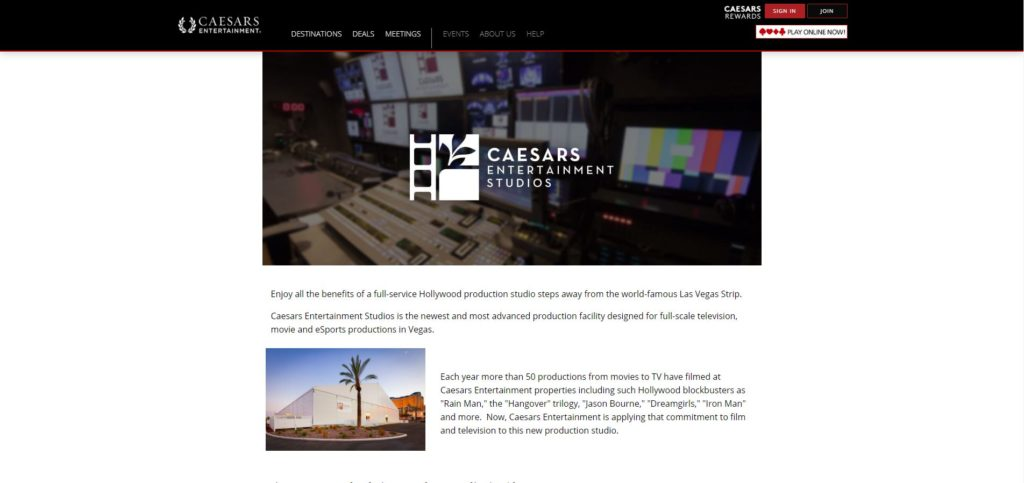 Las Vegas Film Studios - Caesar's Entertainment