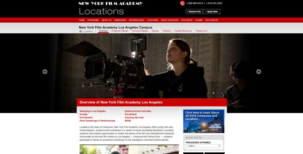 Los Angeles Film Schools - New York Film Academy
