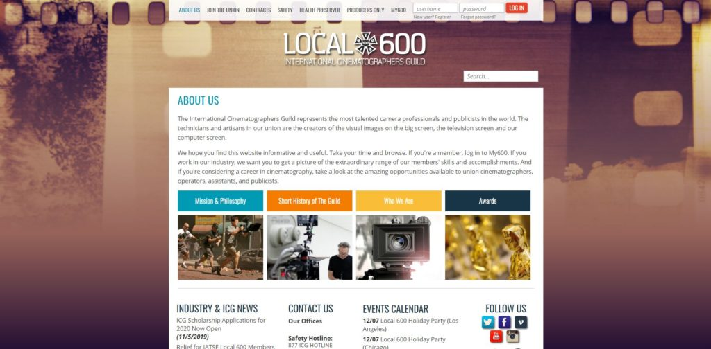 Atlanta Film Unions and Guilds - Local 600 International Cinematographers Guild