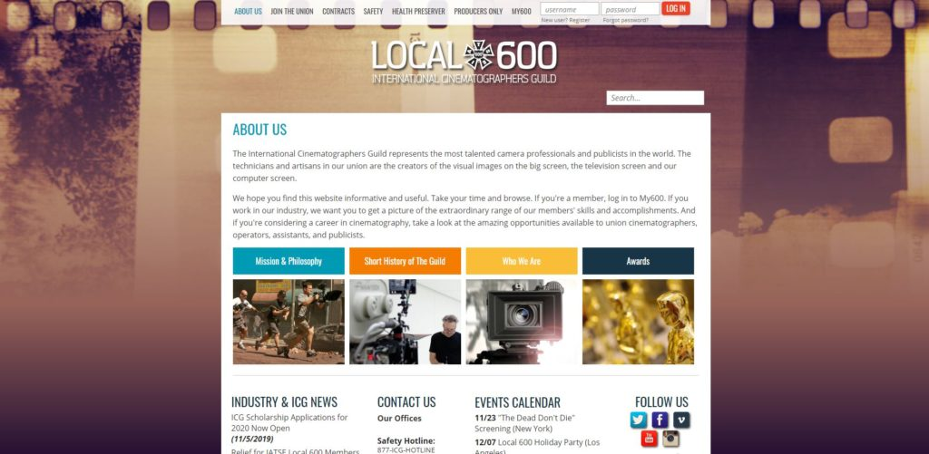 Boston Film Unions and Guilds - International Cinematographers Guild Local 600