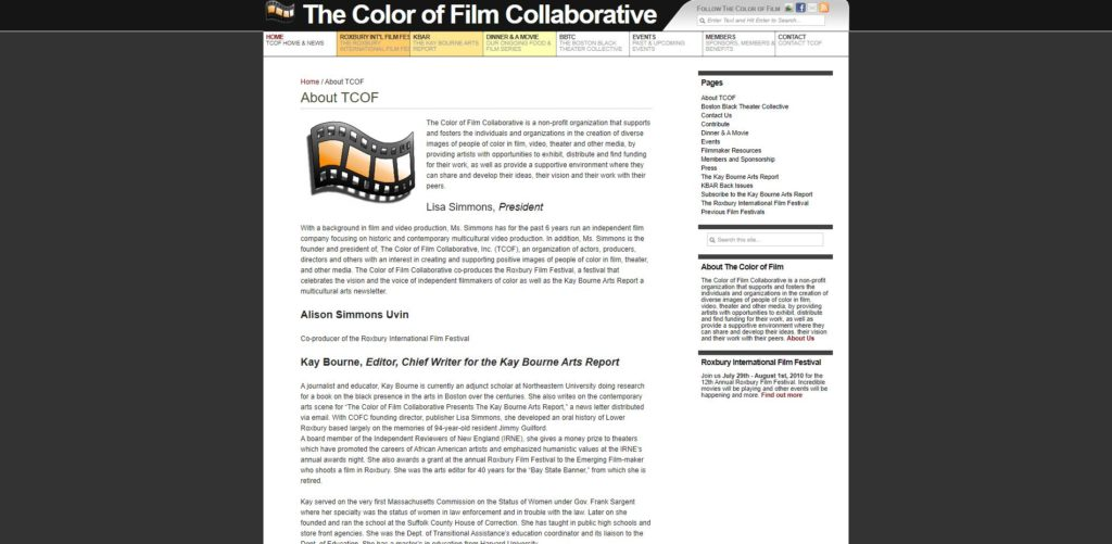 Boston Film Unions and Guilds - The Color of Film Collaborative