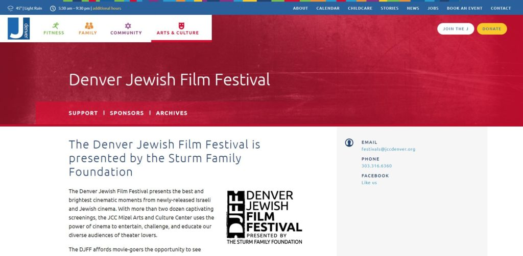 Denver Film Festivals - Denver Jewish Film Festival