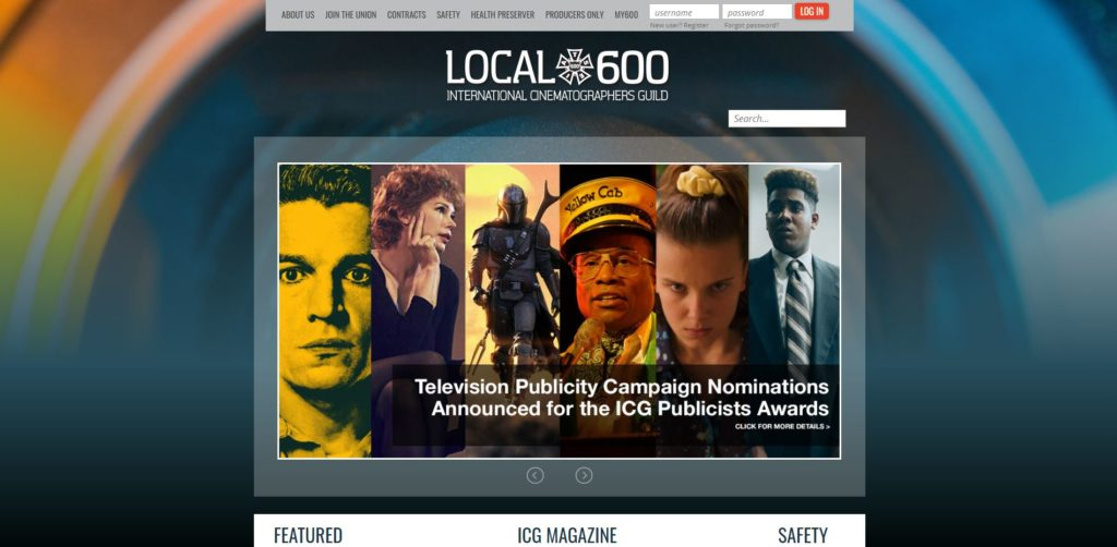 New York Film Unions and Guilds - Local 600 International Cinematographers Guild