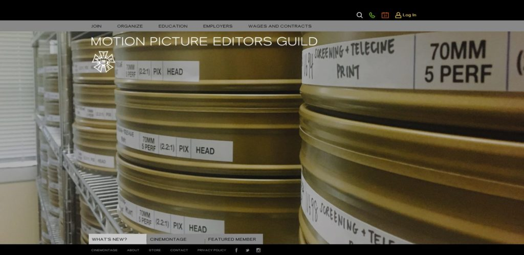 New York Film Unions and Guilds - Motion Picture Editors Guild