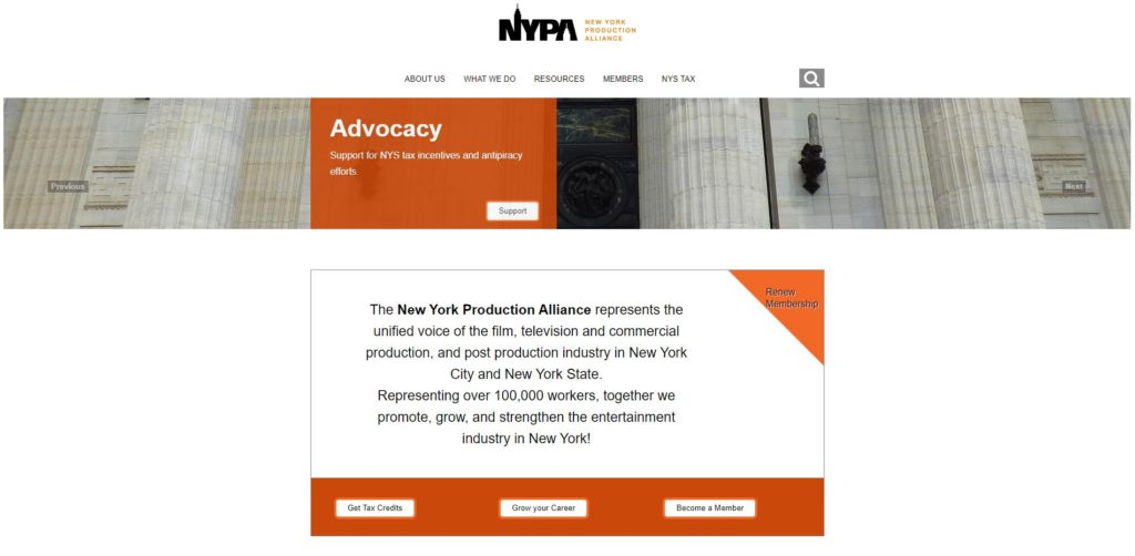 New York Film Unions and Guilds - New York Production Alliance