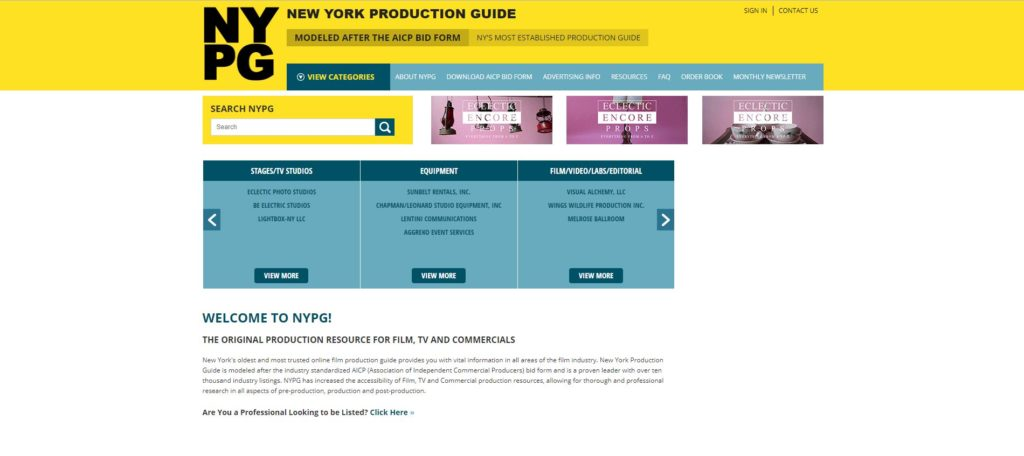 New York Film Unions and Guilds - New York Production Guide