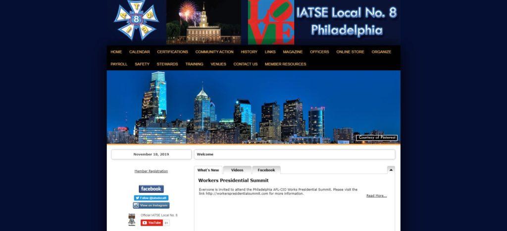 Philadelphia Film Unions and Guilds - IATSE Local Number 8 Philadelphia