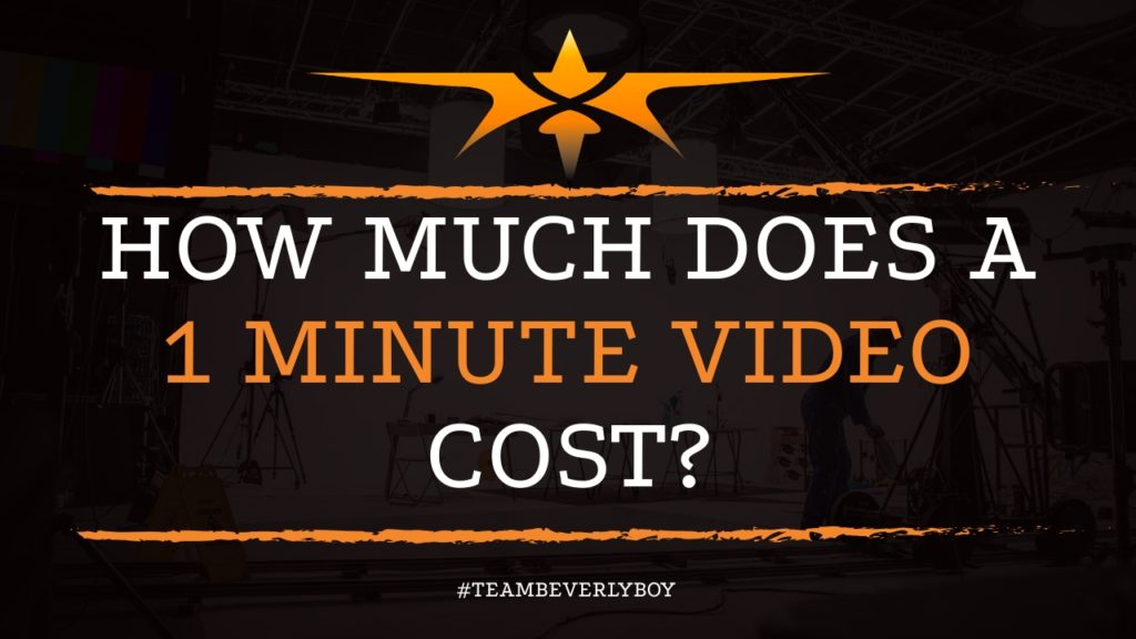 How Much Does a 1 Minute Video Cost