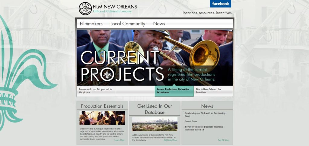 New Orleans Film Unions and Guilds - Film New Orleans Office of Cultural Economy