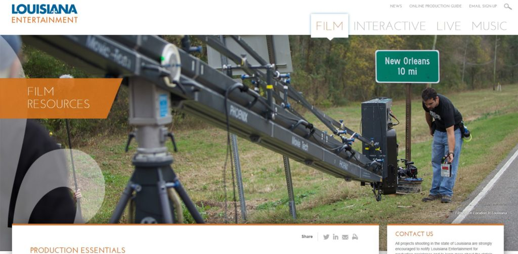 New Orleans Film Unions and Guilds - Louisiana Entertainment Film Resources