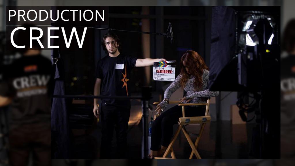 video production crew - slate - clap board