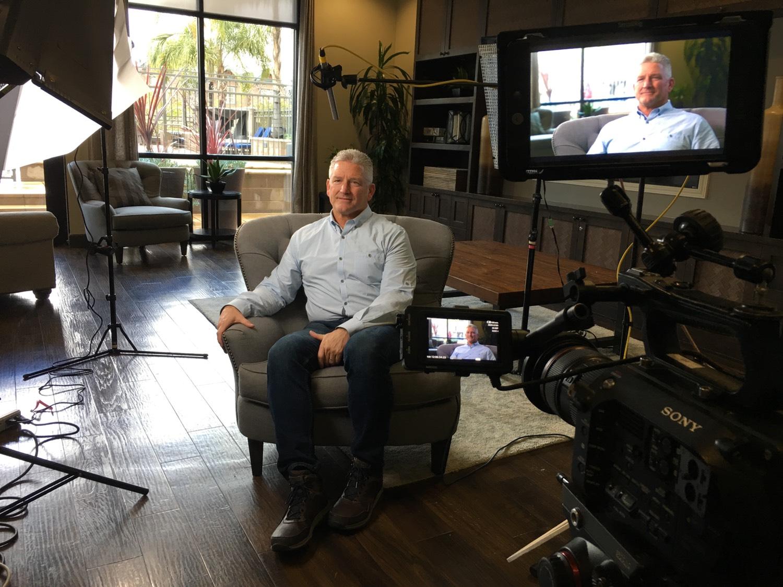filming customer interviews