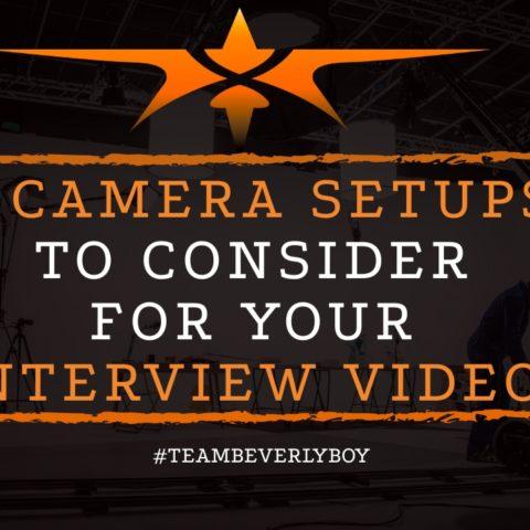 4 camera setups to consider for interview videos