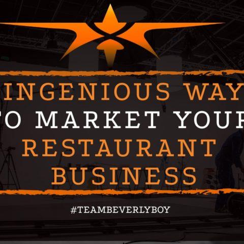 title ingenious ways to market your restaurant business