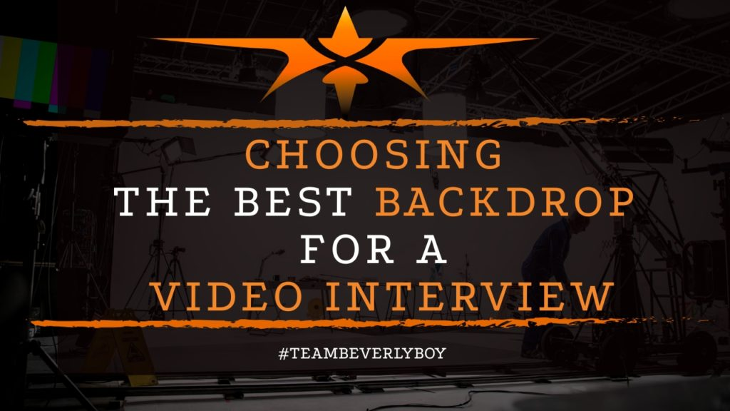 title choosing the best backdrop for video interview