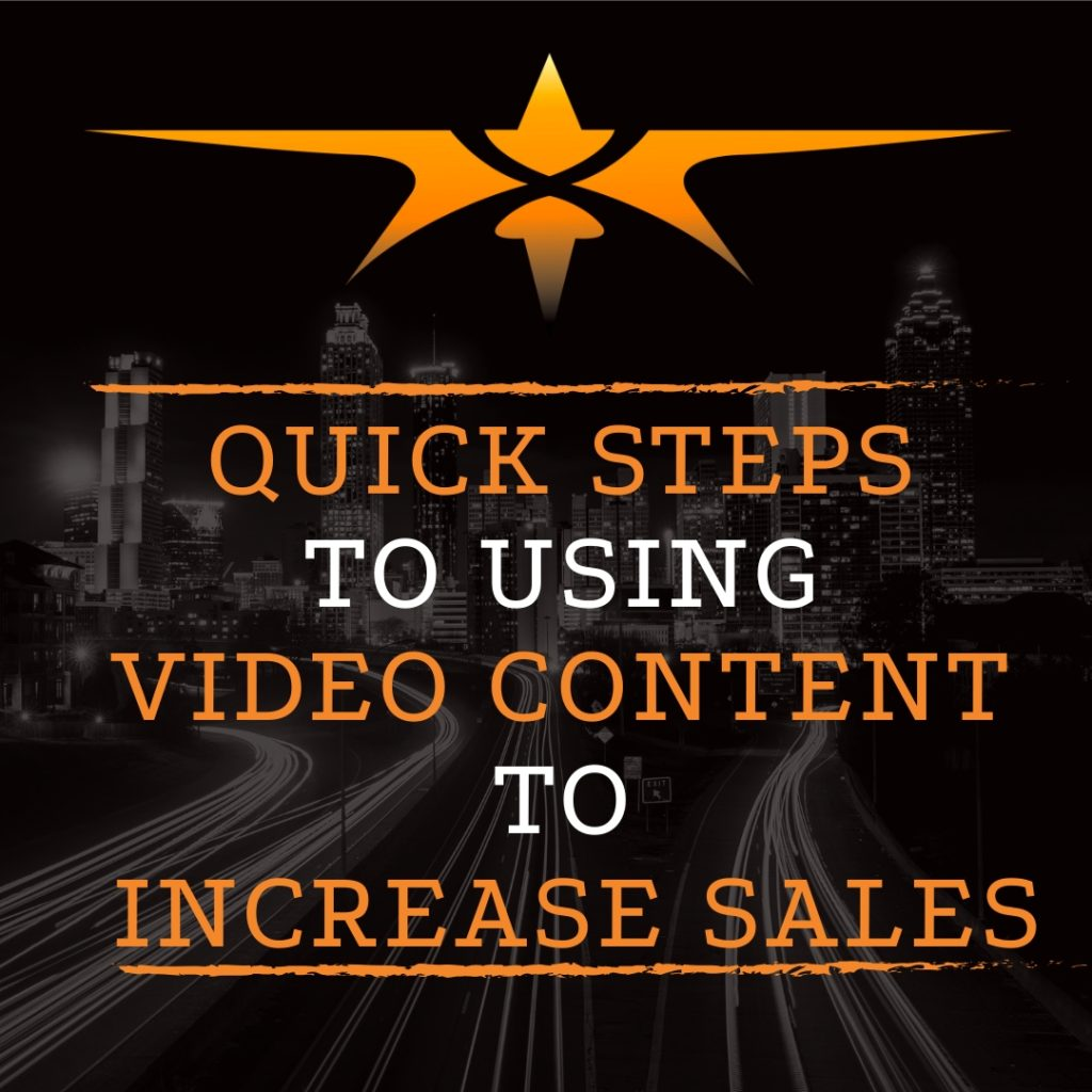 title quick steps to using video content to increase sales
