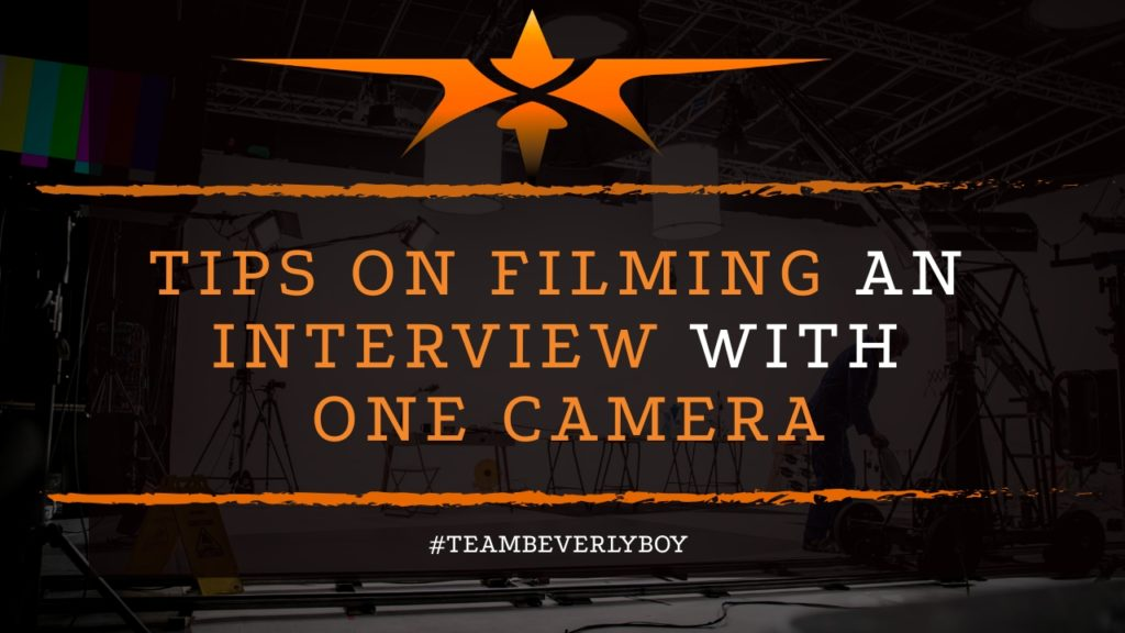 title interview filming with one camera