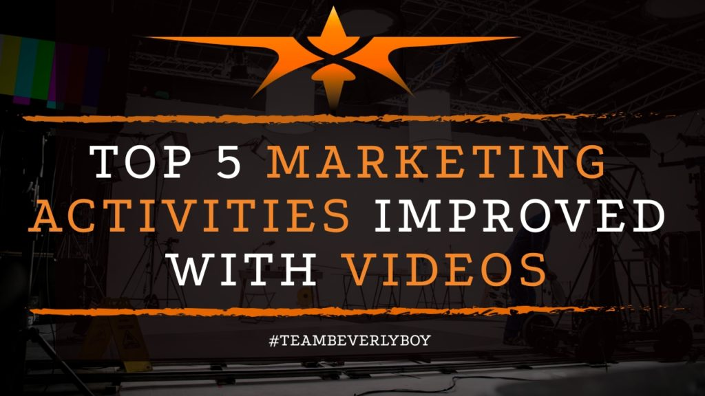 title top 5 marketing activities improved with video