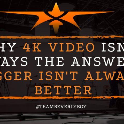 title 4K video bigger isn't always better