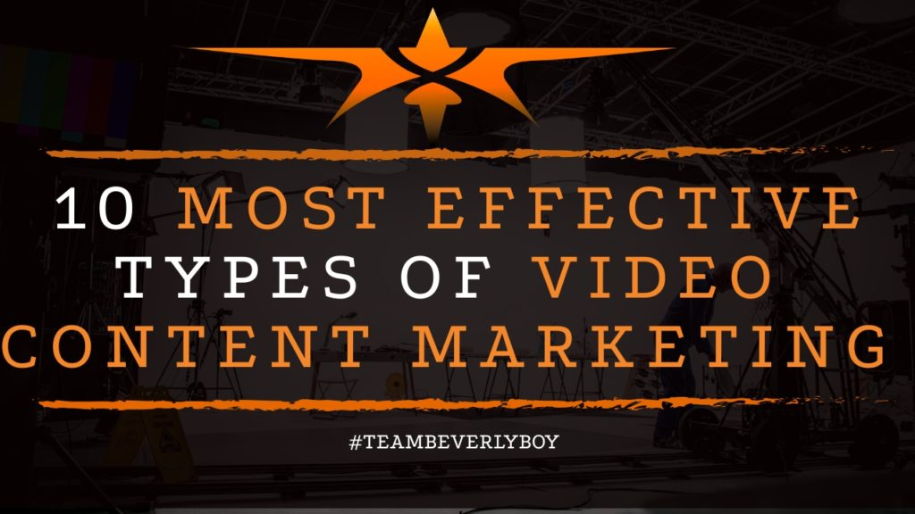 title 10 types of video content marketing