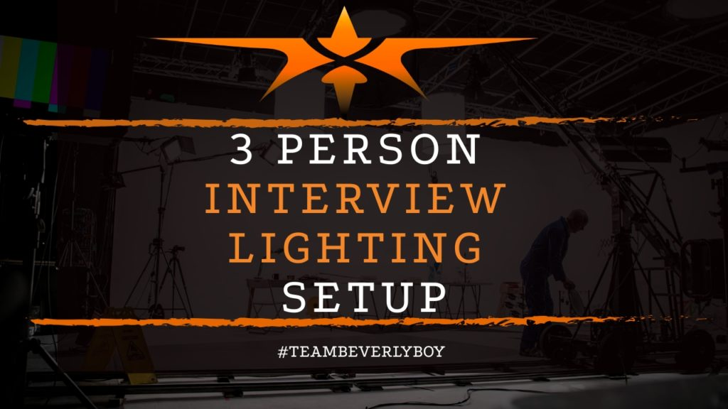 title 3-person interview lighting setup