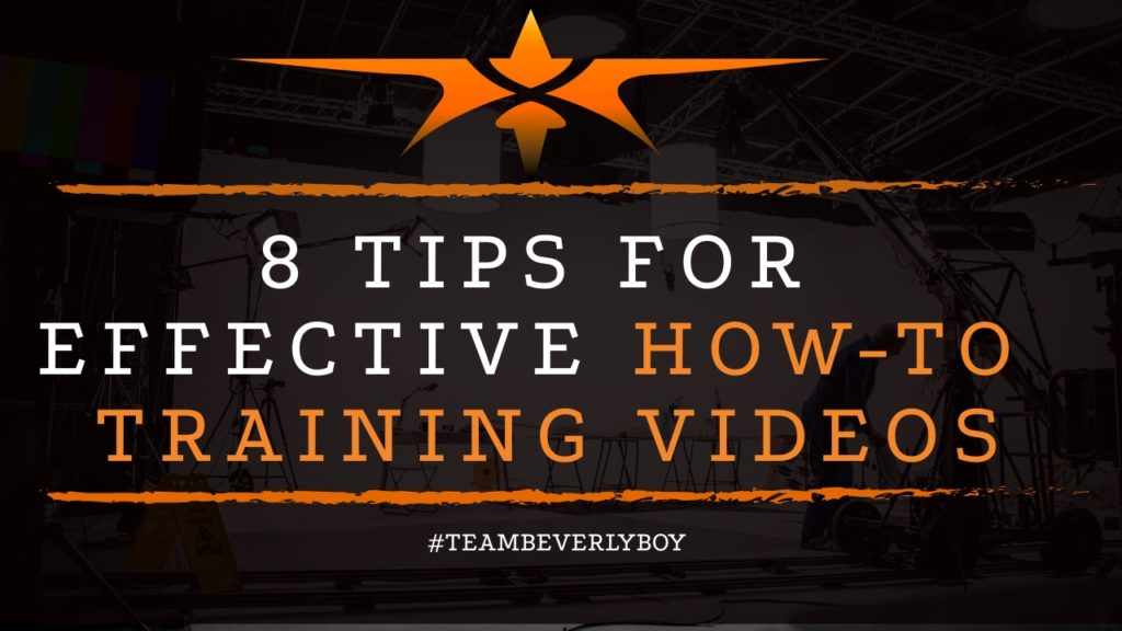 title tips for effective how to training videos