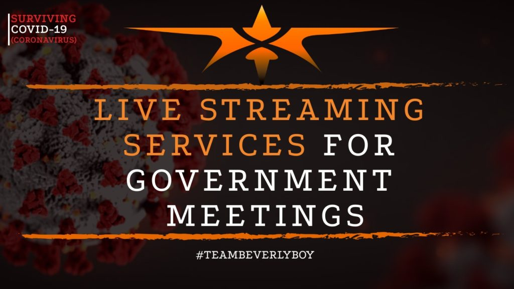 title live streaming government services meetings