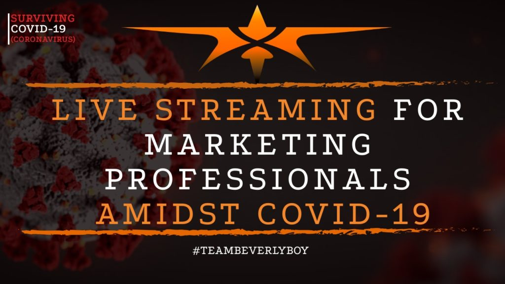 title live streaming for marketing agencies COVID-19