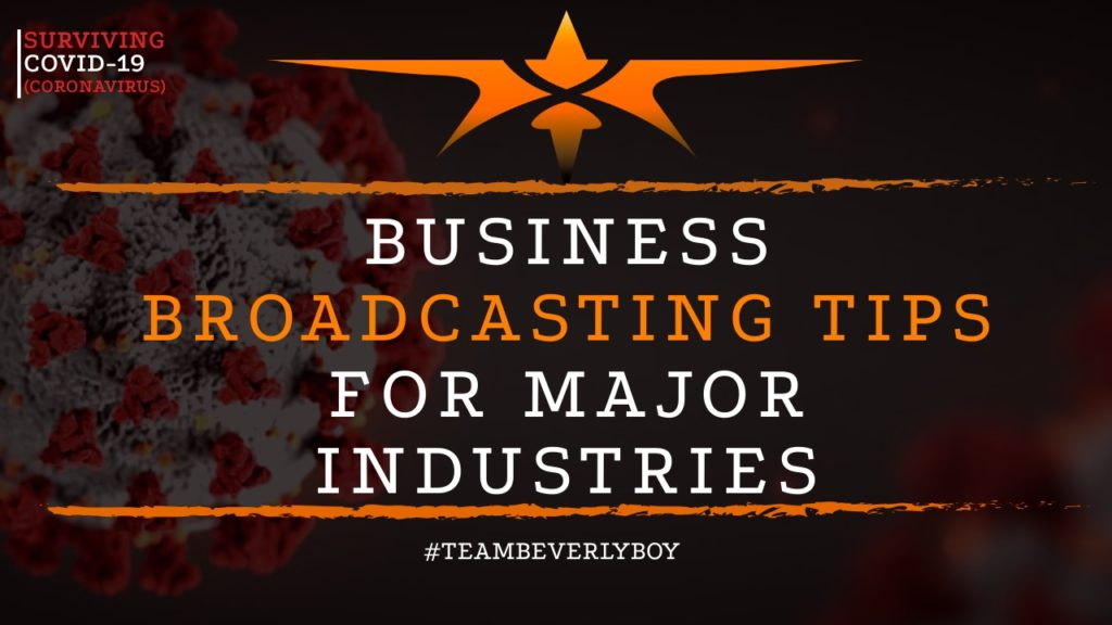 title business broadcasting tips for major industries