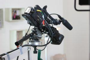 camera equipment on set