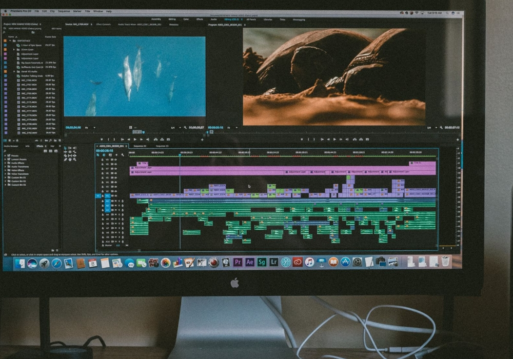adding graphics to editing film