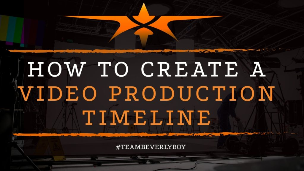 title how to create a video production timeline