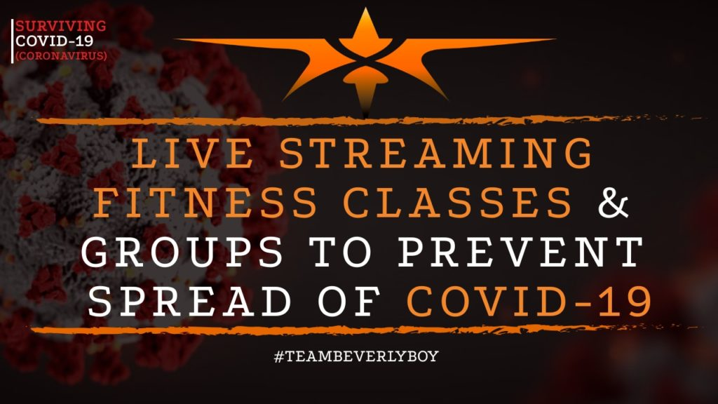 title live stream fitness classes and groups in COVID-19