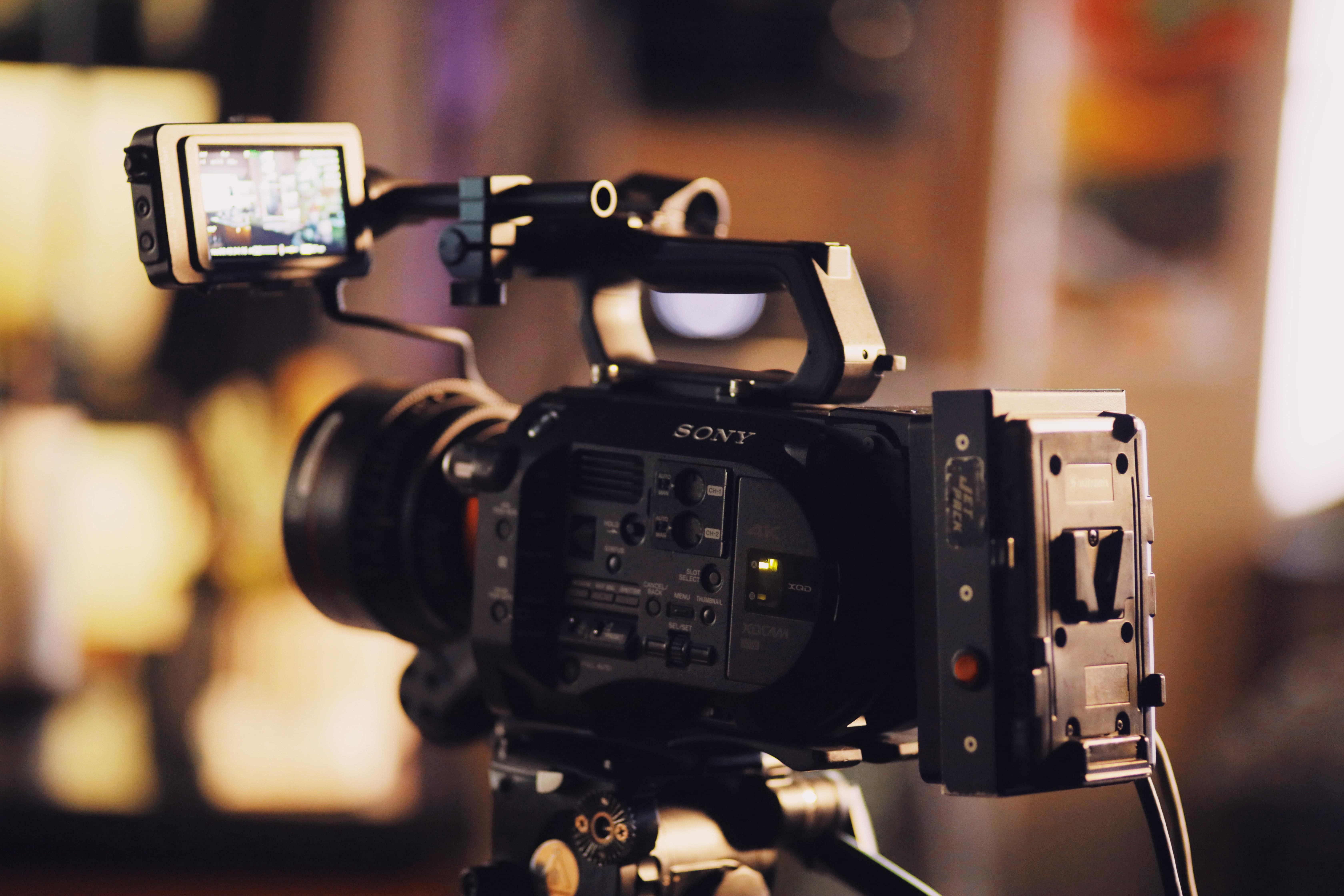 Videographer Prepping Camera Gear 295