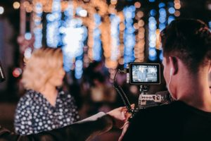 Videographer Prepping Camera Gear 330