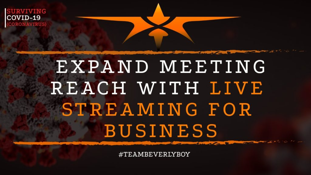 title live streaming business meetings