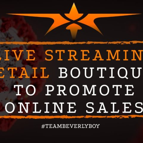 title live stream shopping in retail boutiques