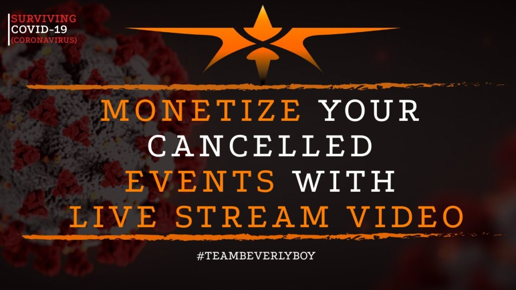 title monetizing live stream video events