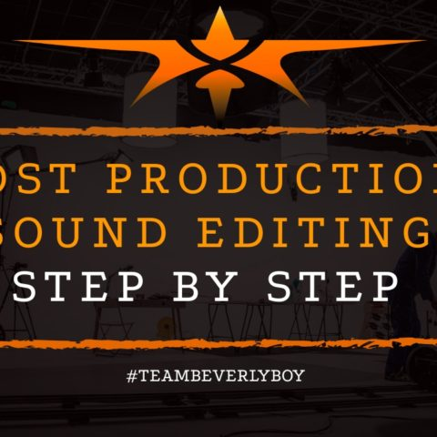 title post production audio editing steps